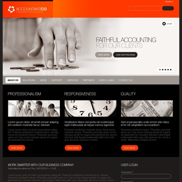 Accounting Website PSD Template