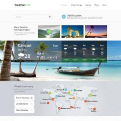 Weather Responsive Website Template