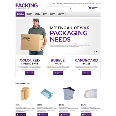 Packaging Responsive OpenCart Template