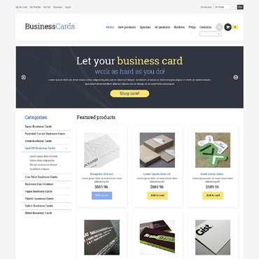 Business ZenCart Template