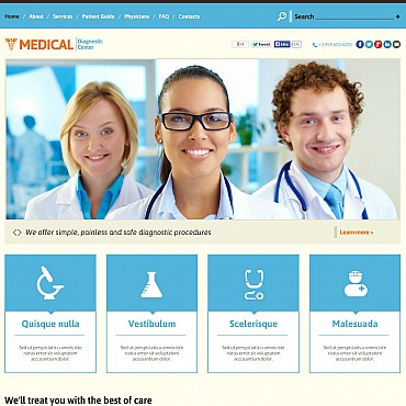 Medical Flash CMS Template