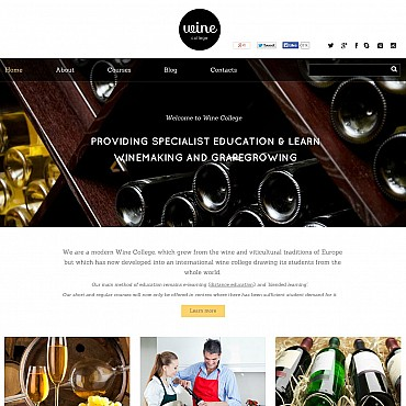 Wine Flash CMS Template