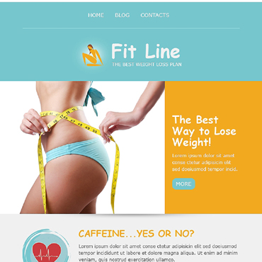 Fitness Responsive Newsletter Template
