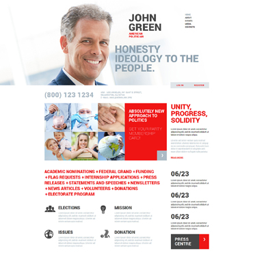 Political Candidate Responsive Joomla Template