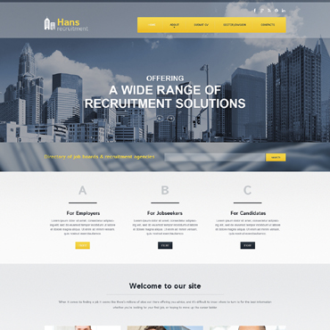Public Relations Responsive Website Template