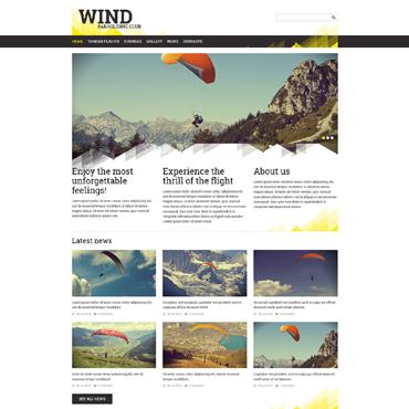 Paragliding Responsive Joomla Template
