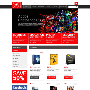 Software Store Responsive WooCommerce Theme