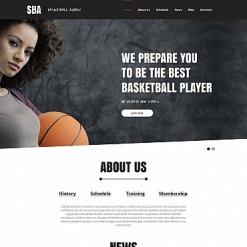 Basketball Moto CMS HTML Template