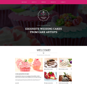 Wedding Cake Responsive Website Template