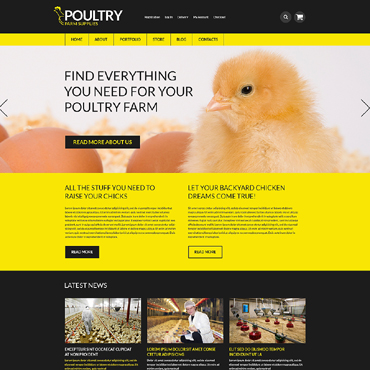 Poultry Farm Responsive WooCommerce Theme