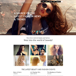 Fashion Blog Muse Template