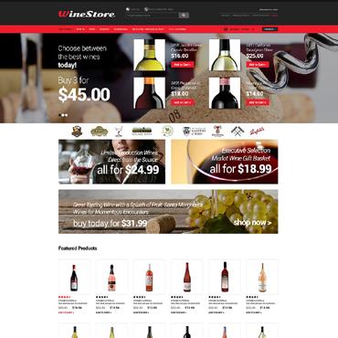 Wine OsCommerce Template