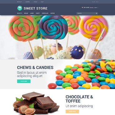 Sweet Shop Responsive Magento Theme