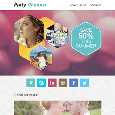Event Planner Responsive Newsletter Template