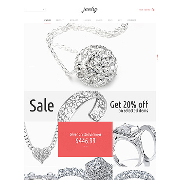 Jewelry PSD Template