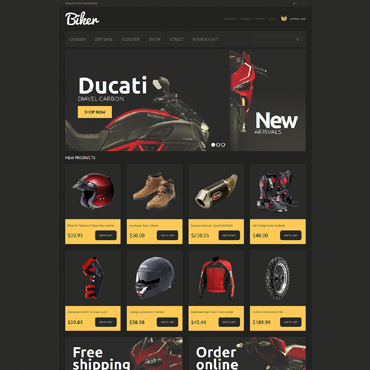 Bike Shop Responsive Magento Theme