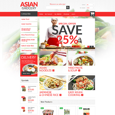 Grocery Store Responsive Magento Theme