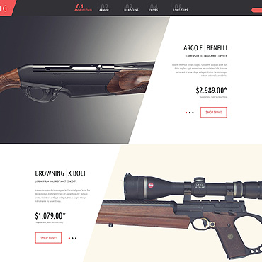 Gun Shop PSD Template