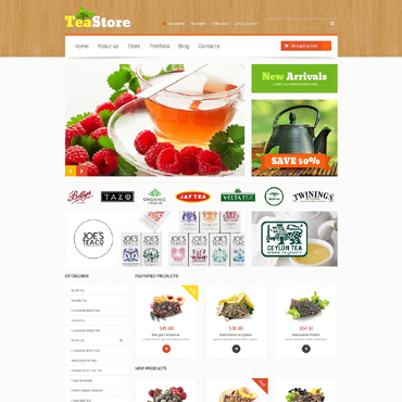 Tea Shop Responsive WooCommerce Theme