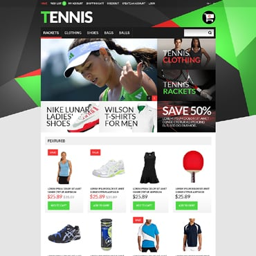 Tennis Responsive OpenCart Template