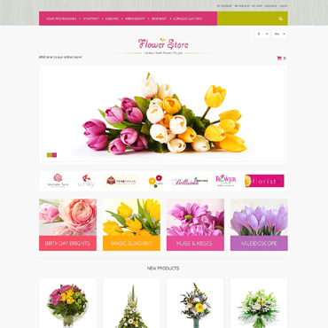 Flower Shop Responsive Magento Theme