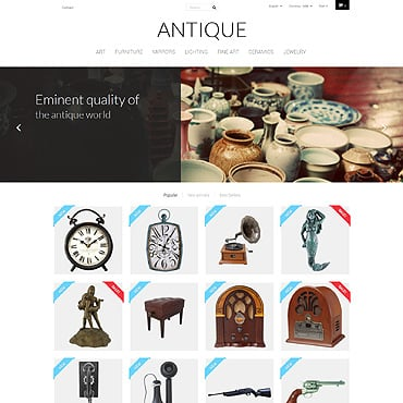 Antique Store Responsive PrestaShop Theme