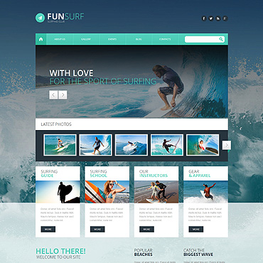 Surfing WordPress Theme