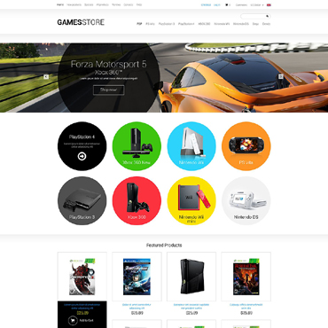 Games ZenCart Template