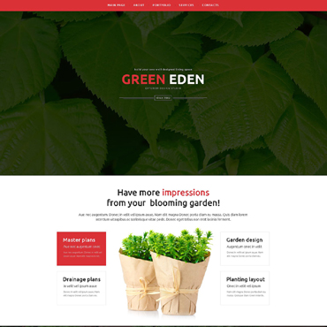 Garden Design Responsive Website Template