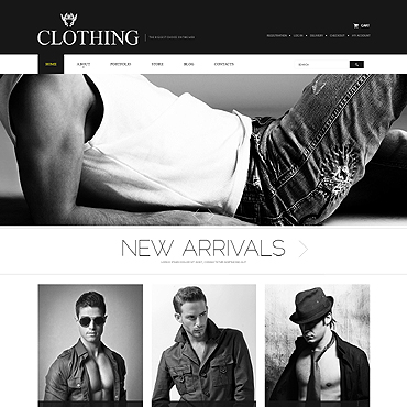 Apparel PSD Template