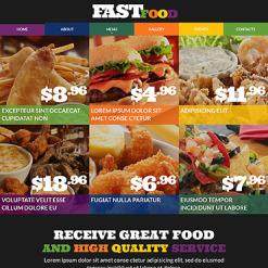 Fast Food Restaurant Responsive Website Template