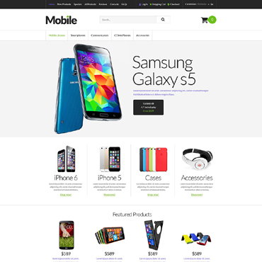 Mobile Store ZenCart Template