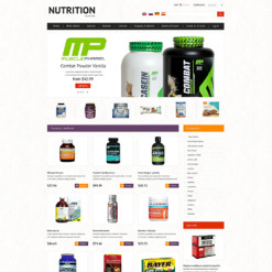 Nutrition Store OsCommerce Template