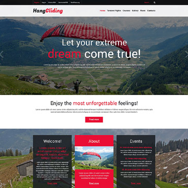 Paragliding Responsive WordPress Theme