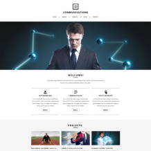 Communications Responsive Website Template