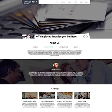 Accounting Website Responsive Drupal Template