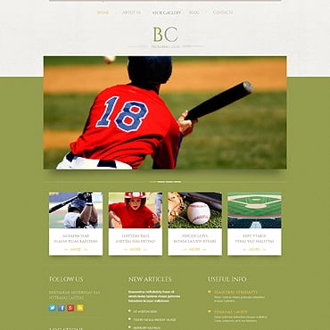 Baseball WordPress Theme