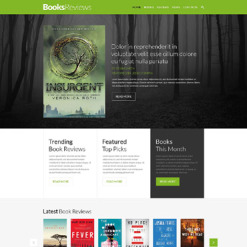 Book Reviews Responsive Website Template