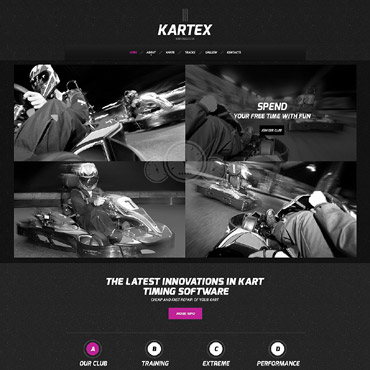 Karting Responsive Website Template #52014