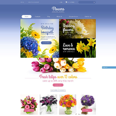 Flower Shop Responsive Shopify Theme