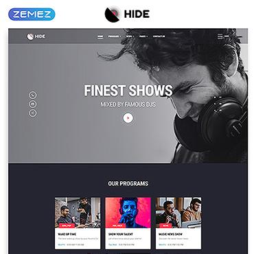 Radio Website Responsive Website Template