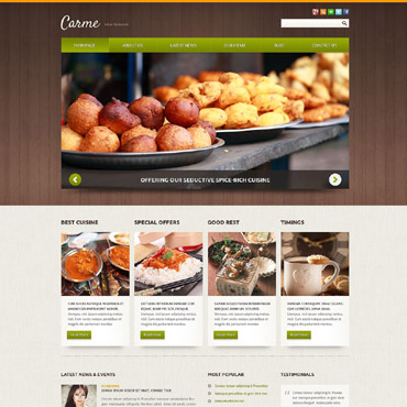 Indian Restaurant Responsive Joomla Template #52106
