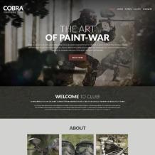 Paintball Responsive Website Template
