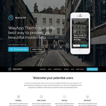 Software Company Responsive WordPress Theme #52146