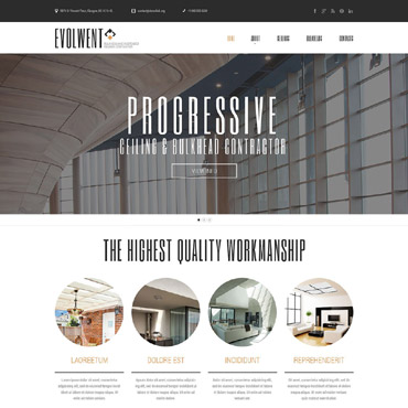 Construction Company Responsive Website Template #52190