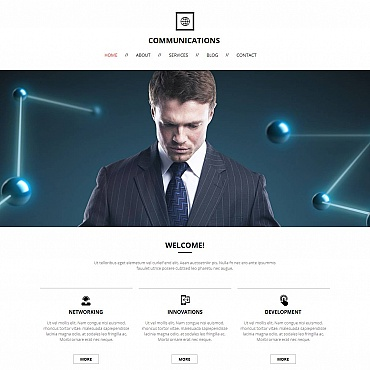 Communications Responsive Moto CMS HTML Template