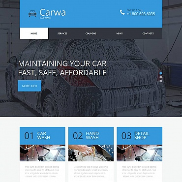 Car Wash Moto CMS HTML Template