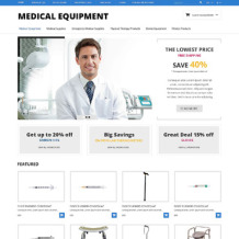 Medical Equipment Responsive OpenCart Template