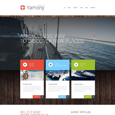 Boating WordPress Theme #52270