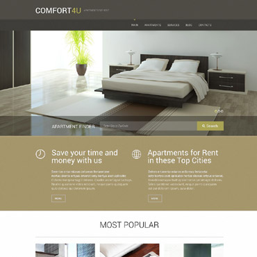 Apartments for Rent WordPress Theme #52294